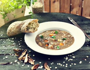 Potato soup with buckwheat